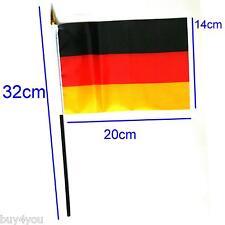 Deutschland Hand Fahne Fanartikel Fußball WM EM Flagge Fan Party Tischfahne