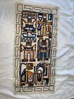 """Vintage Embroidered Tapestry Aztec Mayan Inca Peruvian Wall Art 21 1/2"""" By 41"""" F"""