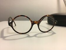 CUTLER AND GROSS MENS 1025 ITALY TORTOISE ROUND FRAME EYEGLASSES LONDON 49-21