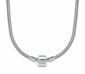 50cm (20 inch) Genuine Sterling Silver Snap Clasp Snake Charm Necklace for Beads