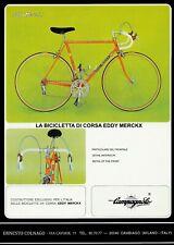 Colnago Eddy Merckx bike 1978 Trade A4 poster Campagnolo Super Record C Master