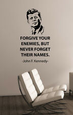 """John F Kennedy /""""An Idea Lives On/"""" Quote Poster Print 7/""""x21/"""" On Matte Canvas"""