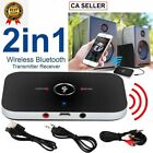 2 IN 1 Bluetooth Audio Receiver & Transmitter Wireless RCA to 3.5mm Aux Adapter.
