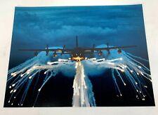 Us Air Force C-130 Hercules Shooting Flares Large Photo Print