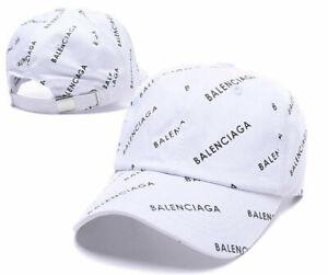 Classic letter Balenciaga² WHITE baseball cap peak cap outdoor adjustable hat