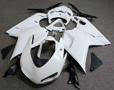Unpainted Drilled ABS Bodywork Fairing Kit for Ducati 848 1098 1198 2007-2011