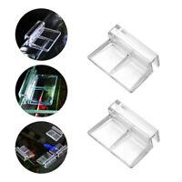 6 stücke Glasabdeckung Unterstützung Halter Für Aquarium Glas Acryl Clips Neu