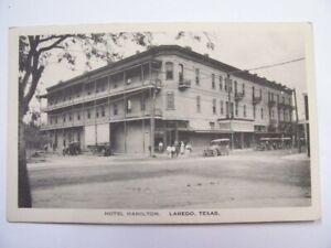 Hotel Hamilton Laredo Texas Cars People Sonora News Postcard. Not Posted B/W NR