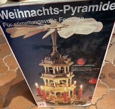 Weihnachts Pyramide  Ca. 50 cm Naturholz Handarbeit 4 Ebene Erzgebierge