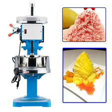 Stainless Steel Ice Shaver Machine Snow Cone Maker Shaved Icee Electric Crusher