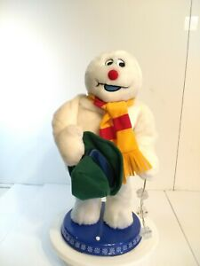 """Gemmy Frosty The Snowman Christmas Animated Dancing Spinning Snowflake 18"""" -READ"""
