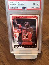 1988 Fleer Michael Jordan PSA 6 EX-MT #17 Chicago Bulls Graded Card