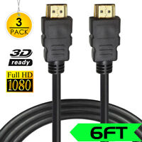 6ft High Speed HDMI Cable for 1080P@30Hz HDTV Ultra 4K HD w/Ethernet Audio Lot