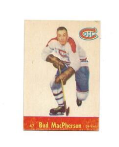 1955-56 Parkhurst:#47 Bud MacPherson,Canadiens