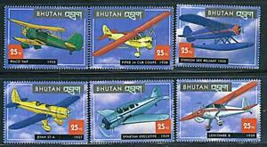 Bhutan 2000 HISTORIC AIRPLANES of the 30's sc#1304 MNH AVIATION