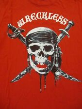 L red PIRATE SKULL PIRATES OF THE CARIBBEAN t-shirt by DISNEY