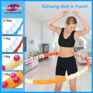 HEALTH HOOP® Hula Hoop Reifen Massagenoppen Magnete Gewicht  0,72-2,8kg