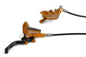 Hope Tech3 E4 Brakes Front & Rear UK Spec Orange With Black Hoses. New, Boxed