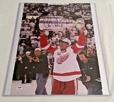 Chris Chelios Autographed 16x20 Stanley Cup Metallic Photo PSA/DNA