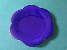 "Maryse Boxer scalloped plate 8 1/2"" (flower shaped) solid blue[*12]"