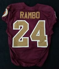 #24 Bacarri Rambo of Washington Redskins Nike Game Issued Alternate Jersey