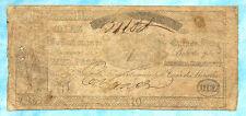 Argentina Banco y Casa de Moneda 10 Pesos 1844 S405 RARE!!!