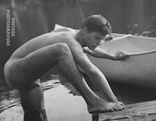 1989 Vintage BRUCE WEBER matted 14X11 Photo Gravure ROB Adirondack Male Nude