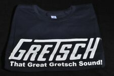 "GRETSCH ""THAT GREAT GRETSCH SOUND"" TEE SHIRT MEDIUM NAVY BLUE"