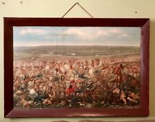 Vtg Custer'S Last Fight 1952 Anheuser Busch 41X28 Litho Budweiser Advertising
