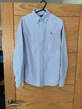 Ladies Ralph Lauren Blue Shirt Approx UK 10-12 Size M Slim Fit
