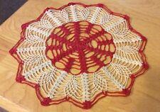 Vintage Two Color Crochet Doily Gorgeous!