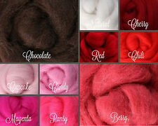 Sweethearts Palette Wool Roving Fiber 2.5oz/70gms. Needle Felting Spinning Soap