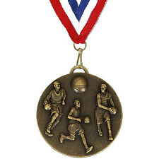 50mm Bronze Basketball Medal with Ribbon (AM990R.12) gw