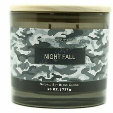 Scentsational Natural Soy Blend Large 26oz Camo Candle Jar Wood Lid - Night Fall