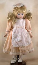 JRL Porcelain Collector's Doll 16 Inch With Blond Hair Blue Eyes