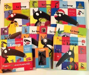 11 livres LE LOUP QUI... + FIGURINE Auzou