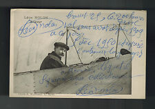 1909 Le Havre France Leon Molon RPPC Postcard Autographed Aviation Pilot Pioneer