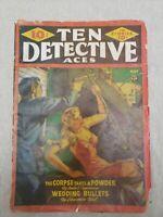 Ten Detective Aces May 1942 Saunders Cvr; Emile C. Tepperman