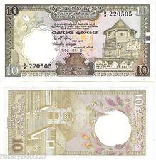 SRI LANKA 10 Rupees Banknote World Money Currency BILL Asia Note p92a (Ceylon)