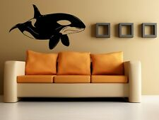 Wall Stickers Vinyl Decal Orca Killer Whale Ocean Marine Sea World EM425