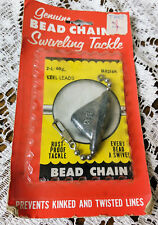 Vintage Fishing Bead Chain Swiveling Tackle Lead Original Packaging Never Used