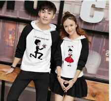 COUPLE JACKET WITH HOOD JLH - WHITE/BLACK (COUPLE SET)