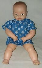 Vintage Miss Peeps Cameo 1953 USA Hinged Vinyl Baby Doll Squeaks 15 Inch Jointed