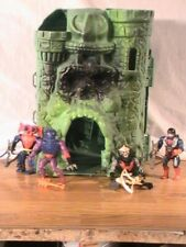 vintage lot of 5 masters of the universe & grayskull castle 1981