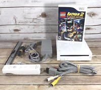 Nintendo Wii Console RVL-001 Bundle GameCube Compatible LEGO Batman 2 Works EUC