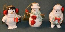 LENOX HOLIDAY ORNAMENTS - 3pc set - MERRY LITTLE CHRISTMAS- MIB/NIB