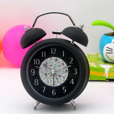 Twin Bell Silent Quartz 3 inch Metal Alarm Clock for Home Office Desk Table