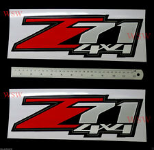 Red Silver Z71 4X4 Vinly Red Sticker Decal Set Chevrolet Colorado UTE 2003-2016