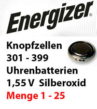 Energizer 301 - 399 Uhrenbatterien 1,55 V Knopfzellen Silberoxid Uhren Batterien