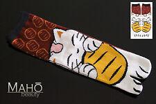 JAPANESE style tabi split toe socks geta Maneki Neko lucky cat flip flop 22-25cm